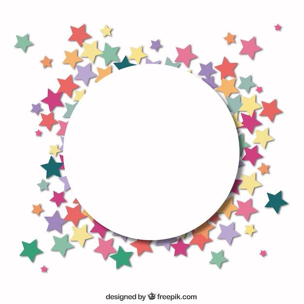 C rculo con un marco de estrellas descargar vectores gratis - Marcos redondos para cuadros ...