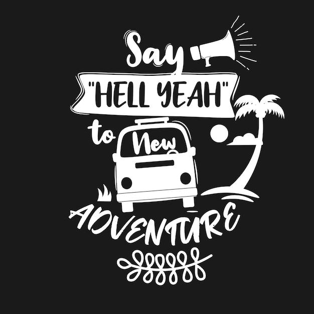 Cita premium sobre aventura y viaje. Vector Premium