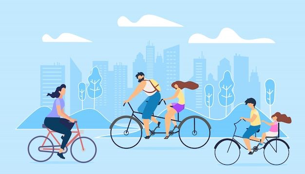 City active lifestyle Vector Premium
