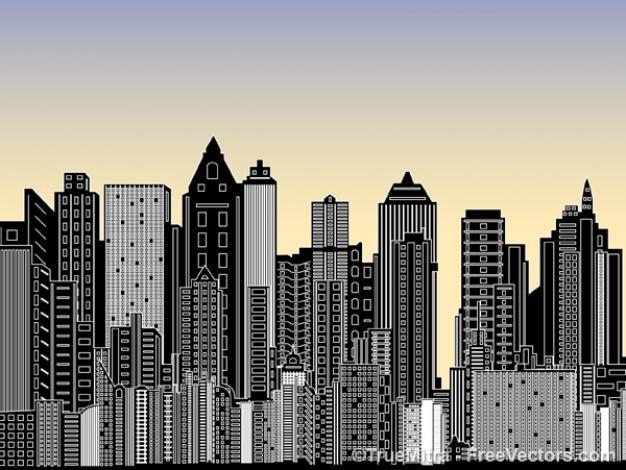 ciudad con muchos edificios descargar vectores gratis Santa Clip Art Vector Software vector clipart software free download