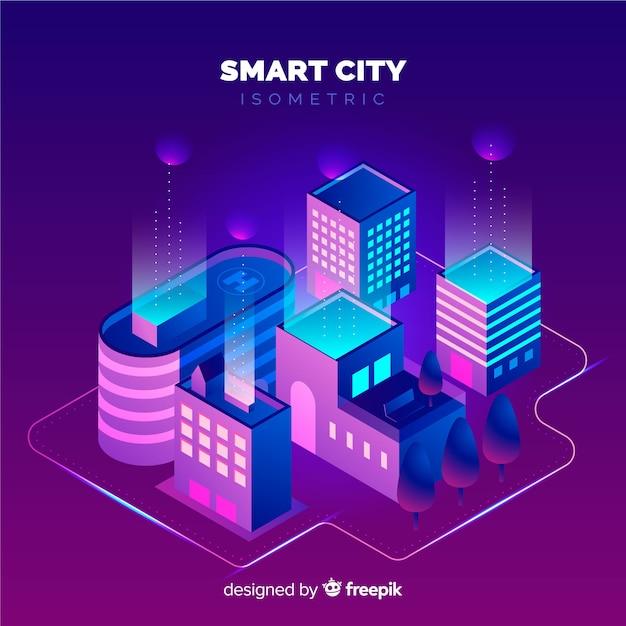 Ciudad inteligente vector gratuito