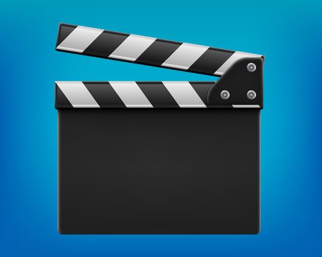Claqueta de cine, claqueta, pizarra de cine. Vector Premium