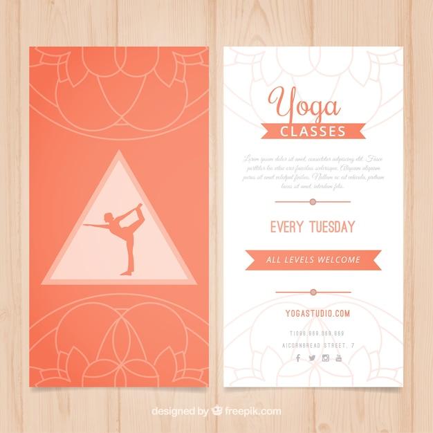 Clases de yoga flyer | Descargar Vectores Premium