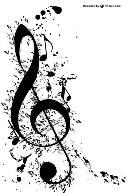 Clave De Sol Y Notas Musicales Descargar Vectores Gratis