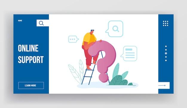 El cliente necesita ayuda página de inicio del sitio web. Vector Premium
