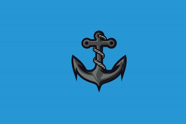 Clip art de aqua anchor para el logotipo de la mascota de esports Vector Premium