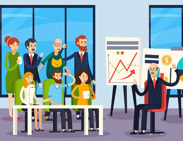 Coaching empresarial ortogonal vector gratuito