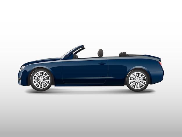 Coche convertible azul aislado en vector blanco vector gratuito