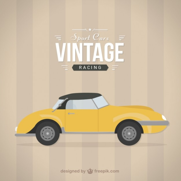 Vilac - Correpasillos coche vintage, color rojo 1049