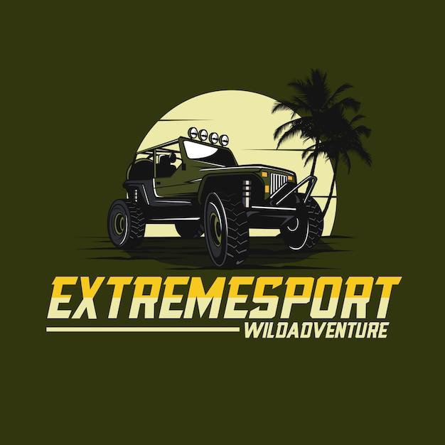 Coche jeep Vector Premium