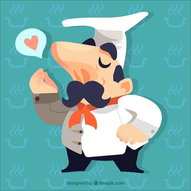 Cocinero haciendo un gesto con la mano descargar for Haciendo el amor en la cocina