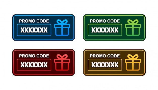Código promocional. vale de regalo con código de cupón. fondo de tarjeta de regalo premium para comercio electrónico, compras en línea. márketing. ilustración. Vector Premium