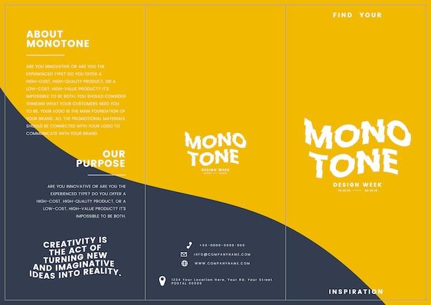 Colateral de marketing: plantilla de folleto vector gratuito