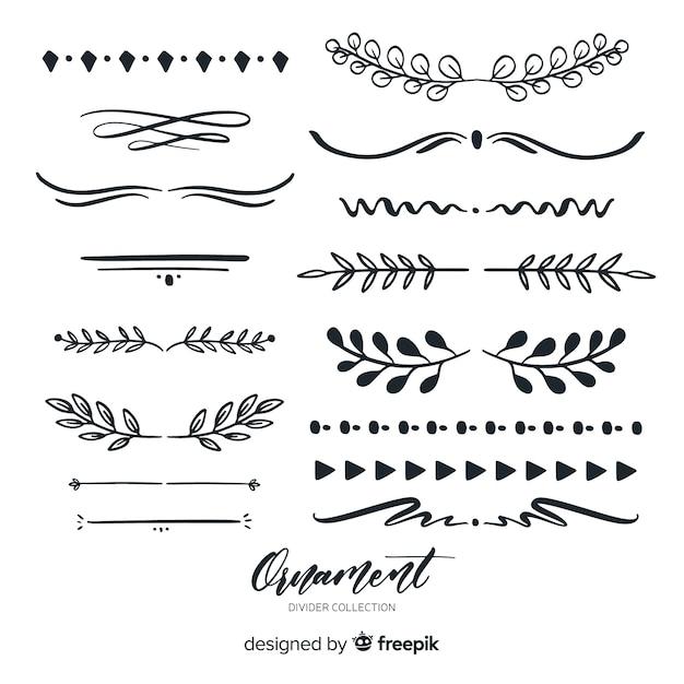 Colección adornos separadores vector gratuito
