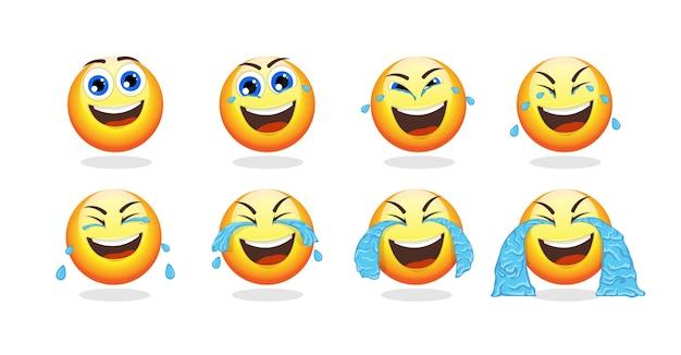 Colección de animación de dibujos animados emoji vector gratuito