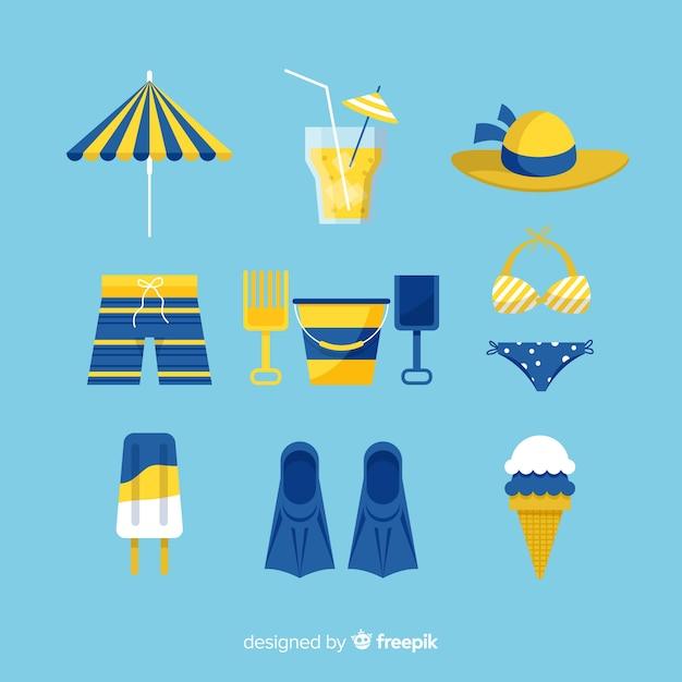 9a6027dd8 Colección de artículos de verano en diseño plano | Descargar ...