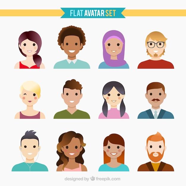Set de avatares de equipo de negocios | descargar vectores gratis.