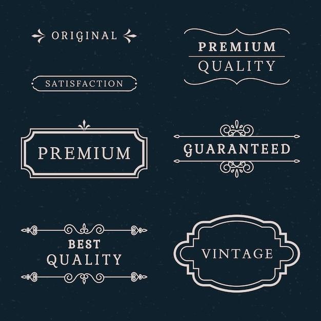 Colección de banners de calidad premium vector gratuito