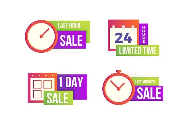 Colección de banners de cuenta regresiva de ventas vector gratuito