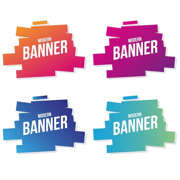 Colección de banners modernos vector gratuito