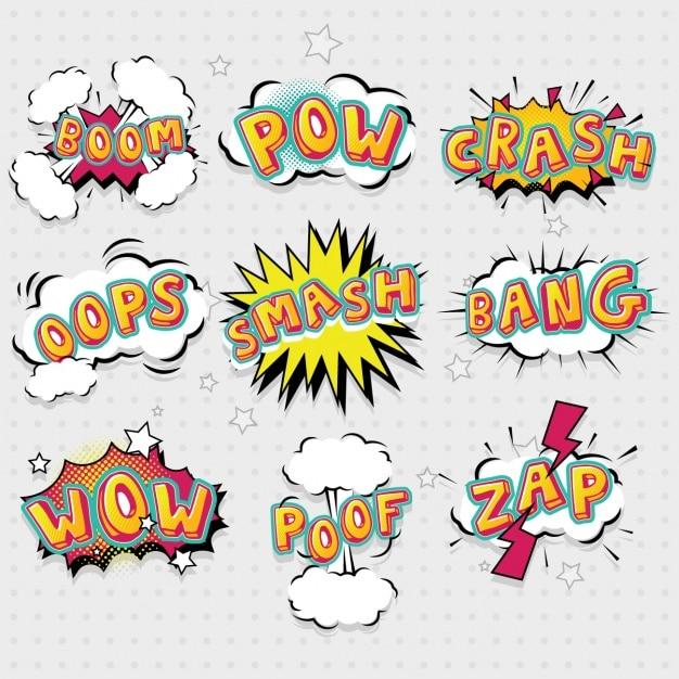 Colección de bocadillos de diálogo dibujados a mano vector gratuito