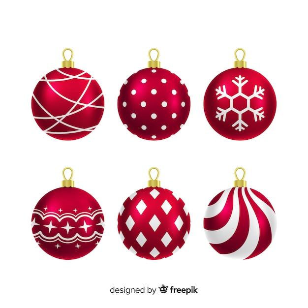 Colección bolas navidad metálicas | Descargar Vectores gratis