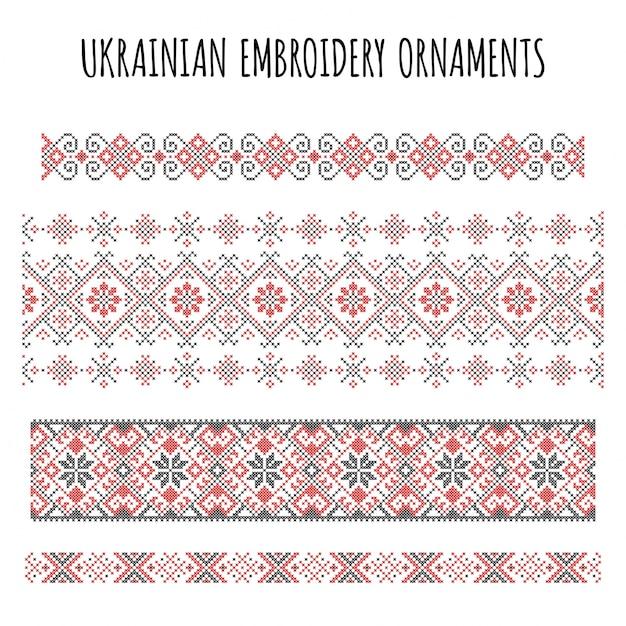 Colección de bordados decorativos | Descargar Vectores gratis