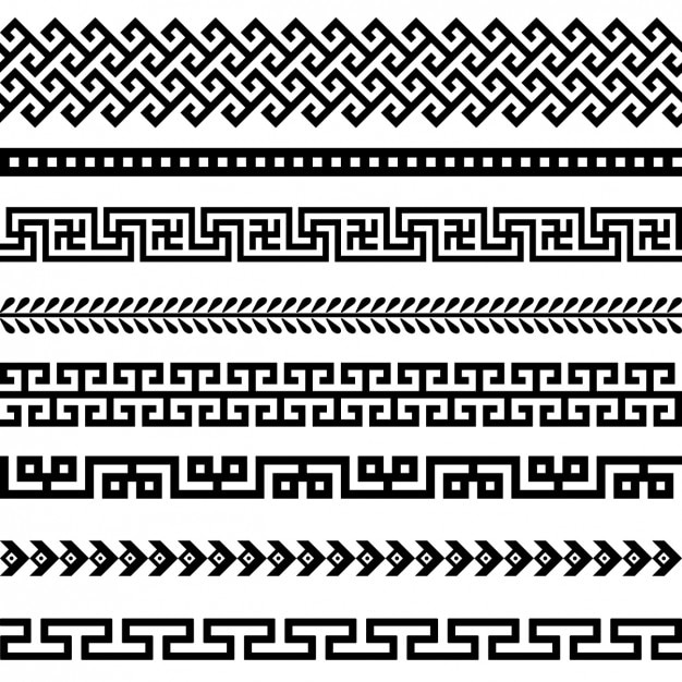 Colección de bordes negros vector gratuito