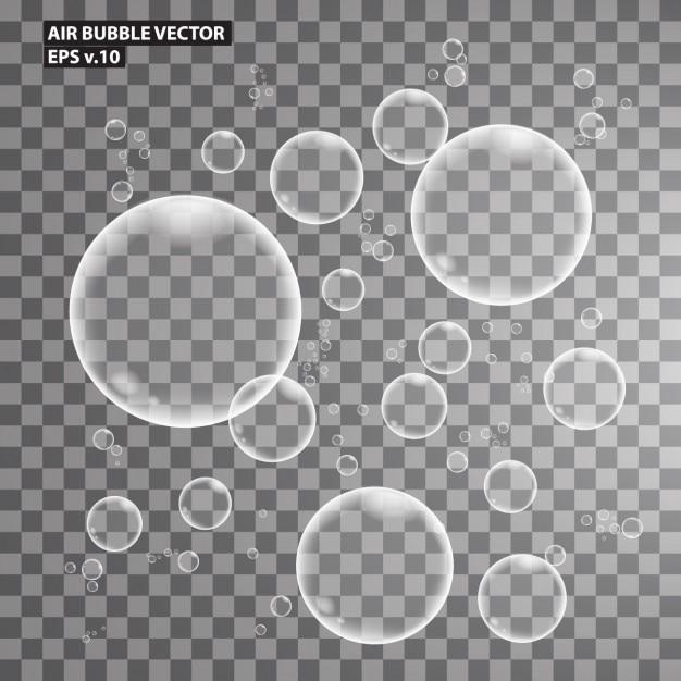 Colección de burbujas de aire vector gratuito