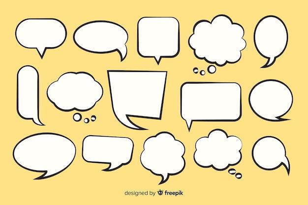 Colección de burbujas de discurso cómico vector gratuito