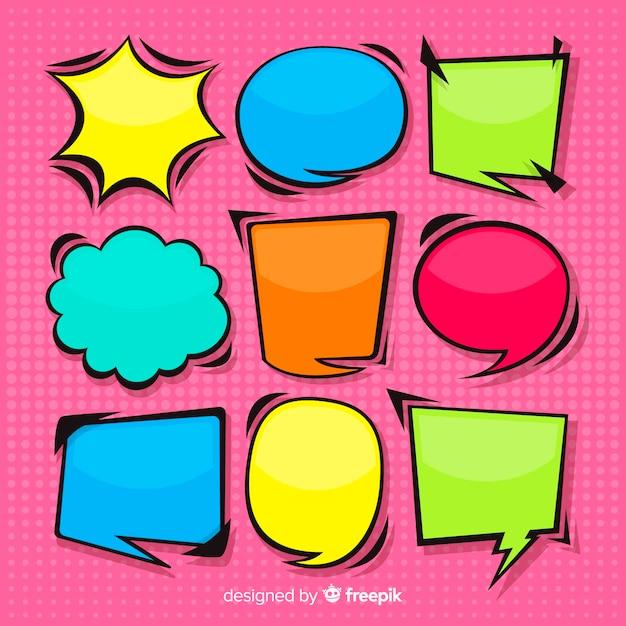 Colección de burbujas de discurso dibujado a mano vector gratuito