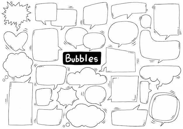 Colección de burbujas de discurso Vector Premium