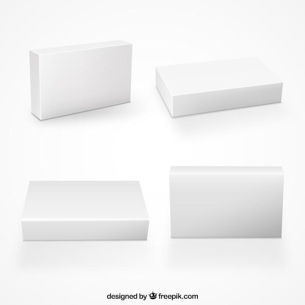 Colección de cajas en blanco vector gratuito