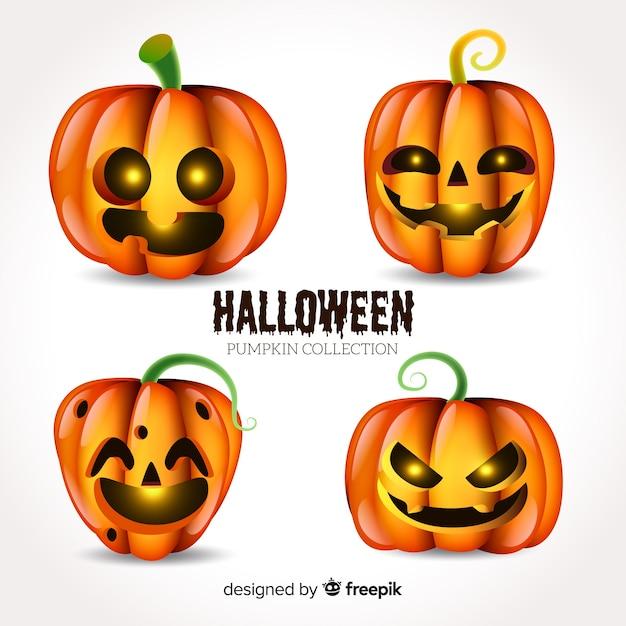 Colección de calabazas de halloween con diseño realista   Descargar ...