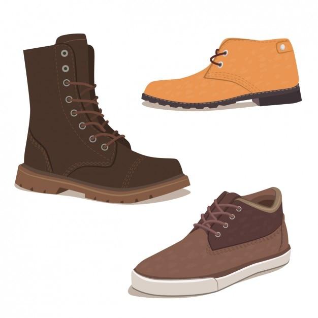 Colección de calzado elegante vector gratuito