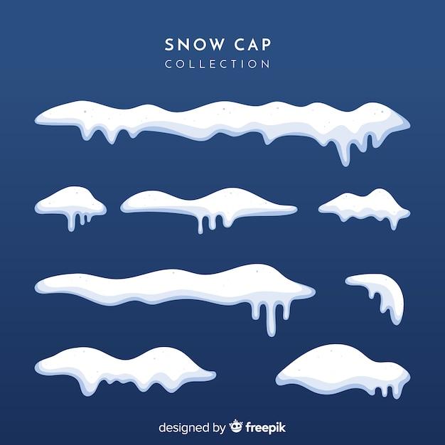 Colección de capas de nieve vector gratuito