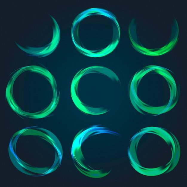 Colección circular abstracta vector gratuito
