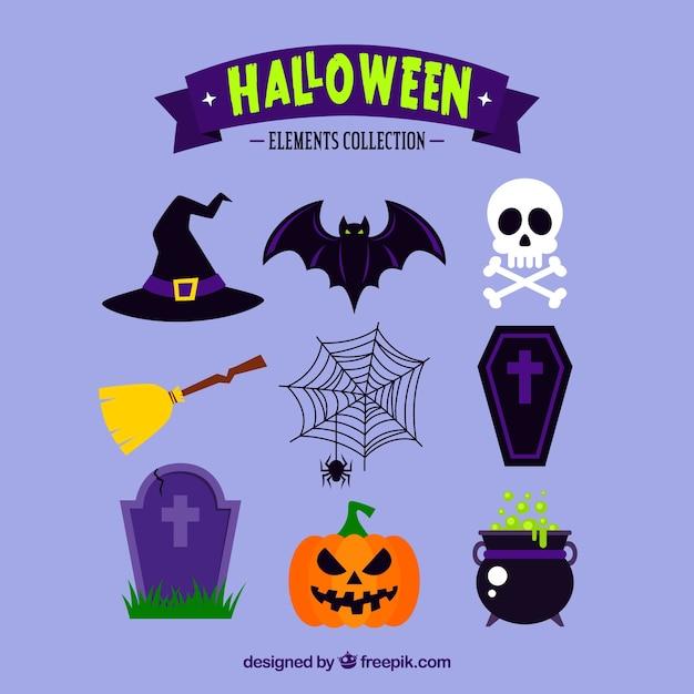 Colección clásica de halloween vector gratuito