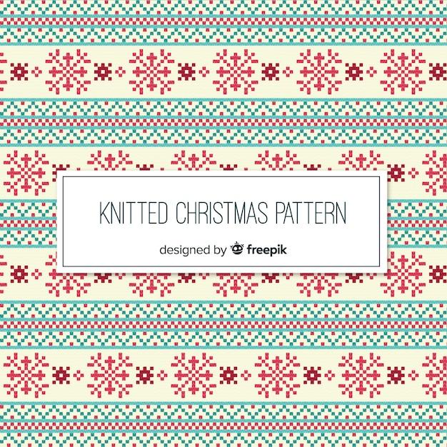 Colección colorida de patrones de navidad con estilo de punto ...