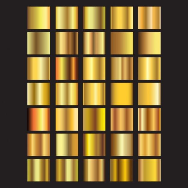 Colección de cuadrados dorados vector gratuito
