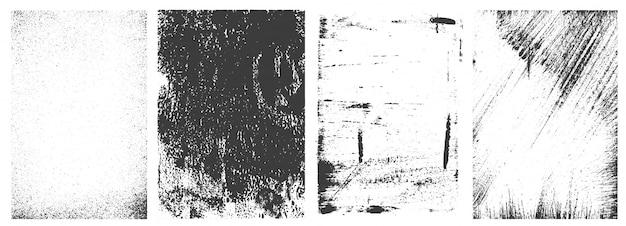Colección de cuadros retro grunge vector gratuito