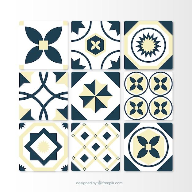 Colecci n de azulejos decorativos descargar vectores gratis for Azulejos decorativos
