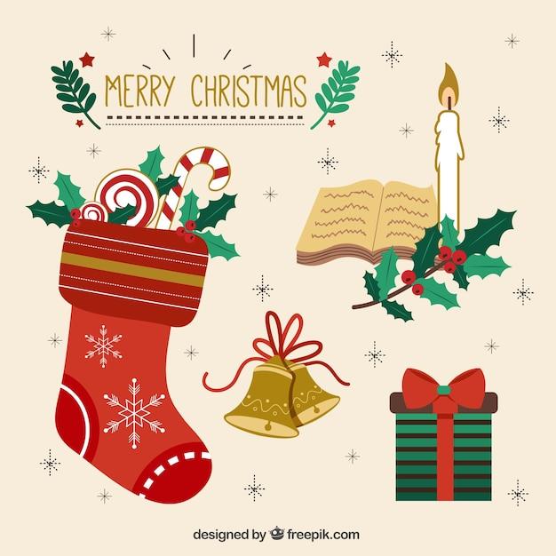 Colecci n de bonitos elementos decorativos de navidad - Decorativos de navidad ...