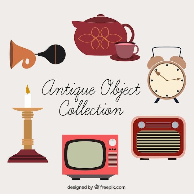 Colecci n de bonitos objetos antiguos descargar vectores for Compra de objetos antiguos