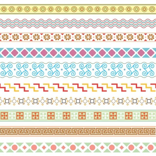 Colección de bordes coloridos | Descargar Vectores gratis