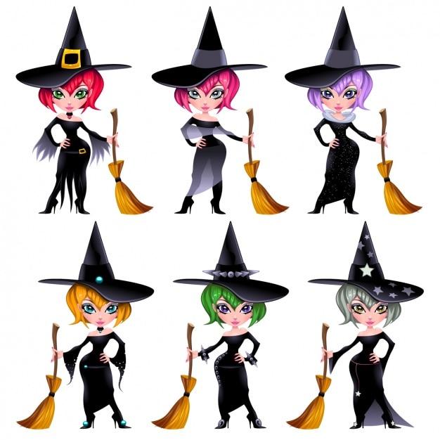 Colección de brujas a color | Descargar Vectores gratis