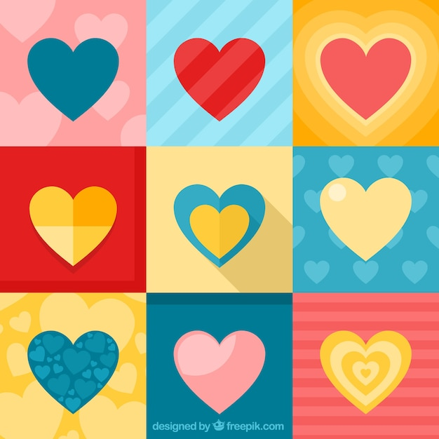 corazones de colores fondo - photo #29