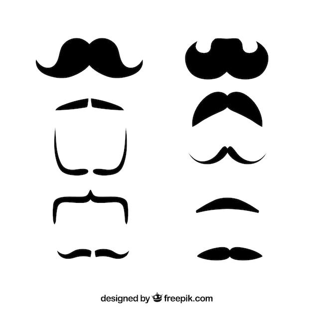 Colección de diseño de bigote | Descargar Vectores gratis