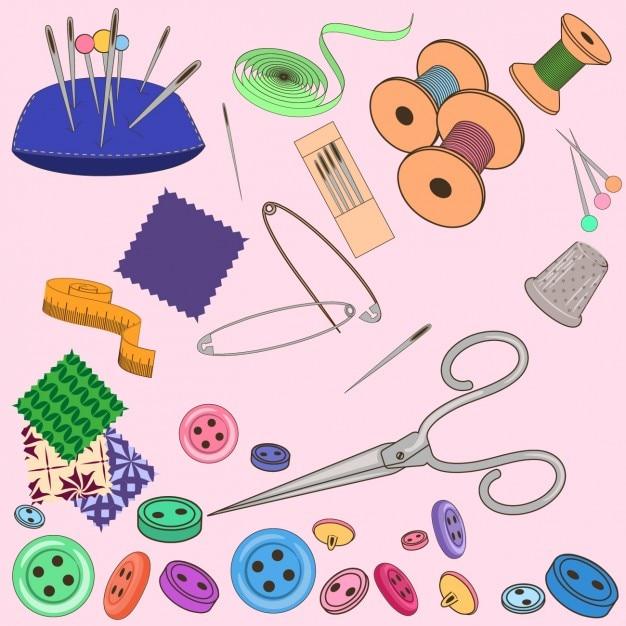 colecci n de elementos de costura a color descargar
