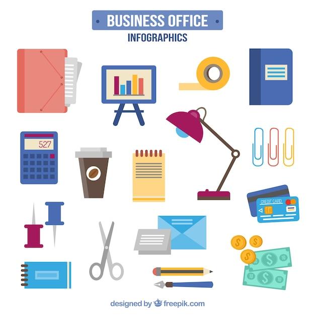 Colecci n de elementos de oficina dibujados a mano for Elementos para oficina